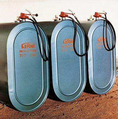 Zbiorniki na olej opałowy, pierwszy produkt Kermi. Fot. Kermi