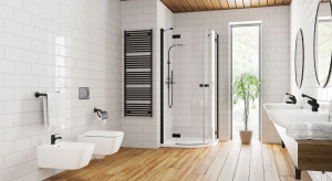 5 pomysłów na ciemny detal w łazience