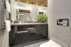 Ściana w łazience: postaw na efekt 3D