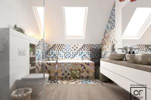 Ładna i praktyczna łazienka z uniwersalnym grzejnikiem: zobacz gotowy projekt