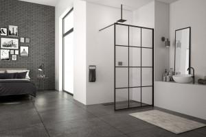Czerń w strefie prysznica - te kabiny są na topie!