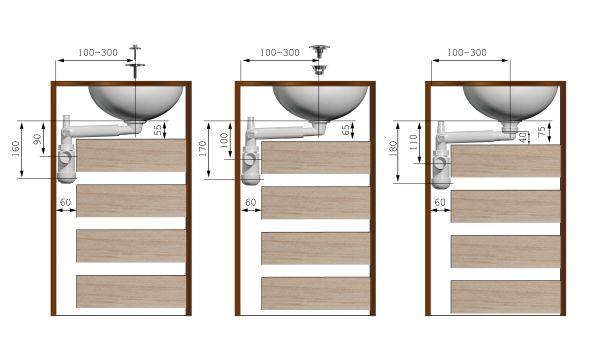 Odpływ Preloc to praktyczne rozwiązanie do umywalek, idealne również do szafek podumywalkowych.