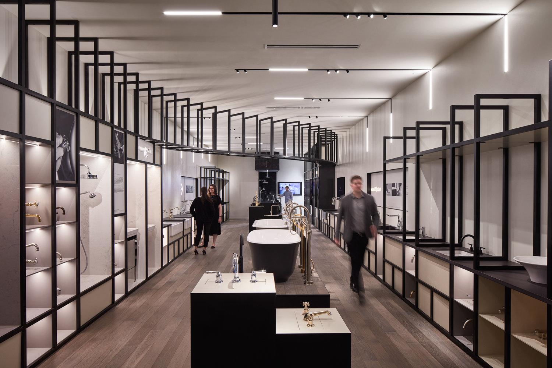 Showroom łazienkowy House of Rohl zaprojektowany przez studio Valerio Dewalt Train Associates. Fot. Tom Harris