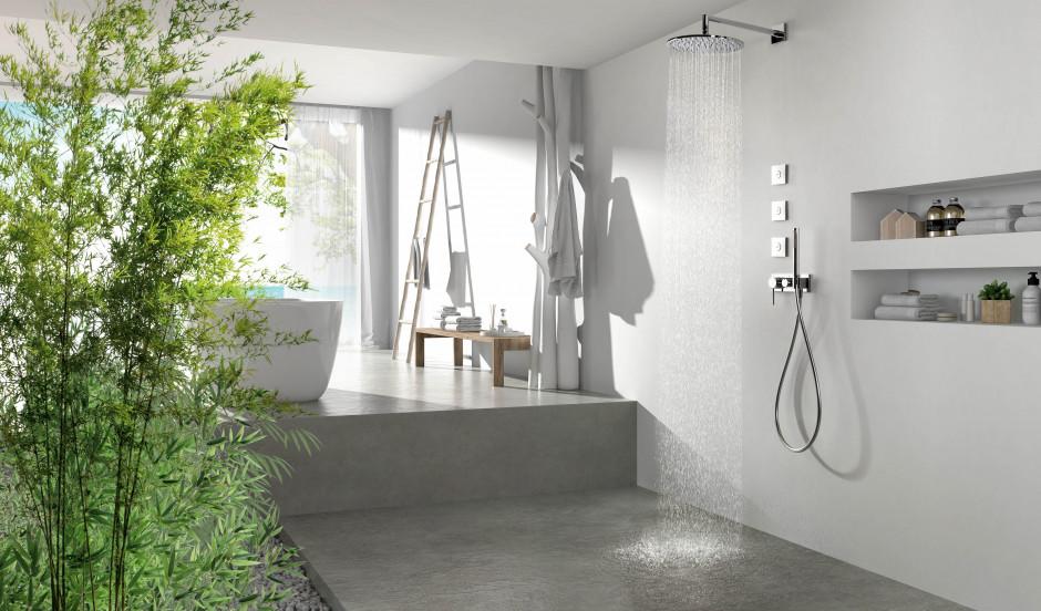 Nowoczesna strefa prysznicowa w nowoczesnych łazienkach