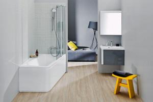 5 kolekcji szarych mebli łazienkowych