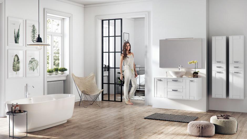 Białe meble: modne kolekcje do łazienek