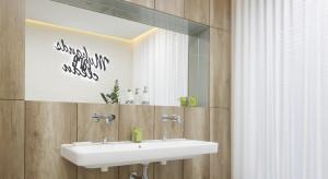 Strefa umywalki: postaw na podtynkową baterię