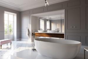 Łazienka w stylu francuskim: gotowy pomysł na aranżację