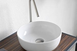 Umywalki stawiane na blat: 10 okrągłych modeli