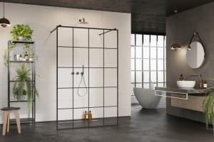 Modna kabina prysznicowa: postaw na matową czerń!