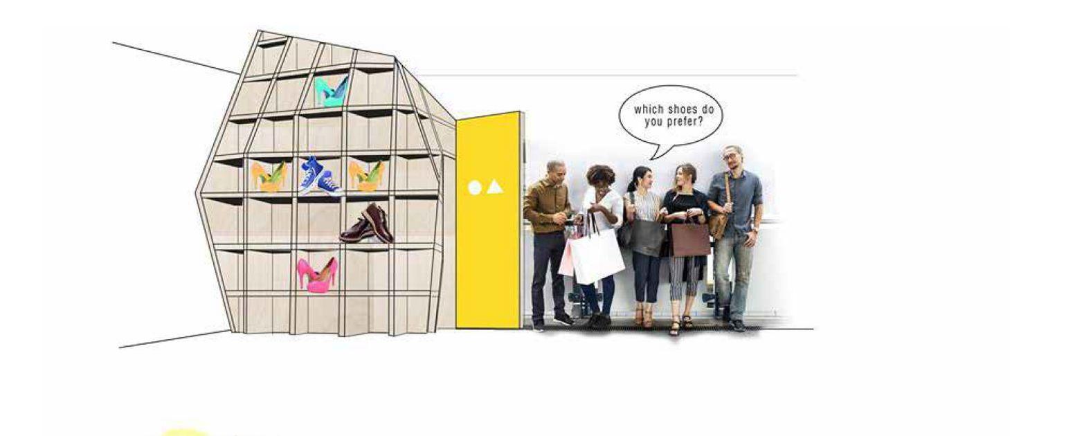 Druga nagroda o wartości 700 EURO została przyznana dla architektek Patrycji Pokrzywy i Pauliny Olszowy z pracowni MK architekci za projekt Shelf box. Fot. Roca Polska