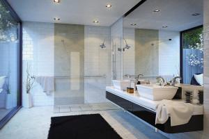 Elegancka łazienka: postaw na minimalistyczny prysznic