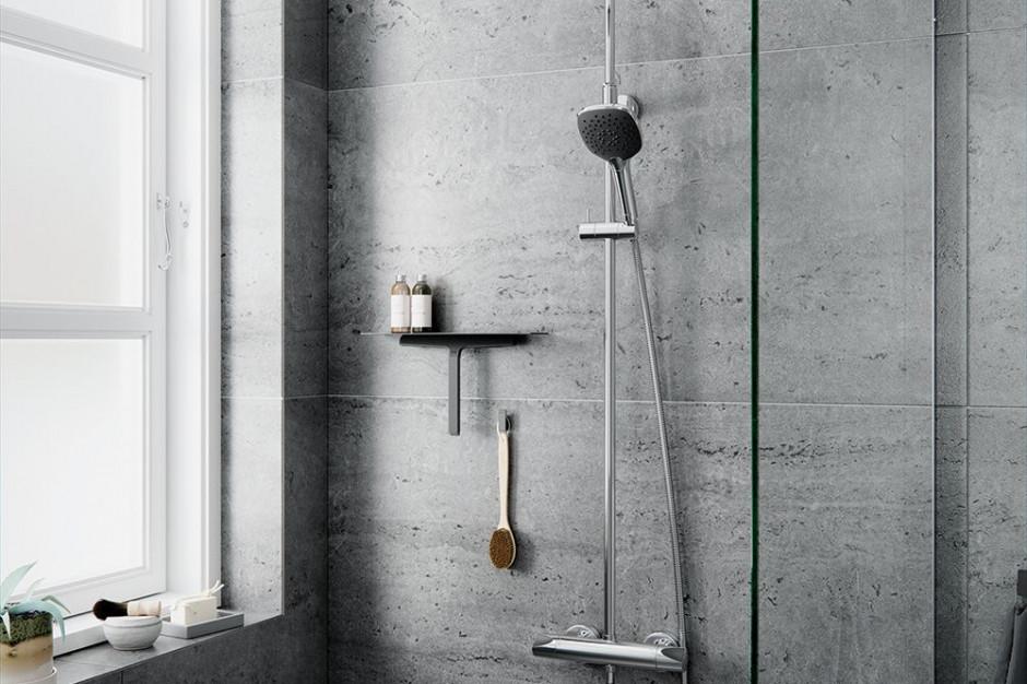 Czerń w strefie prysznica: nowy system prysznicowy