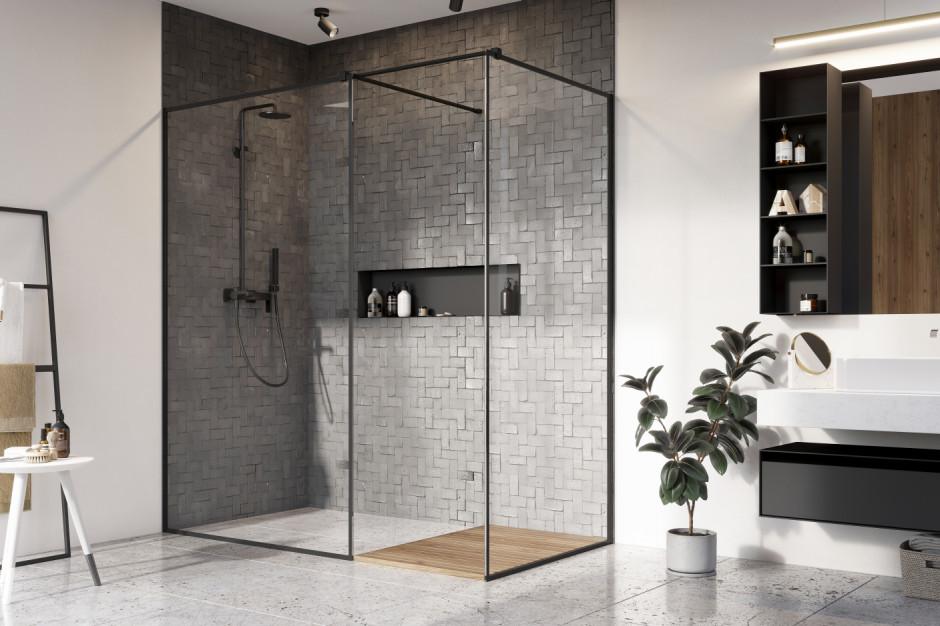 Czerń w strefie prysznica: zobacz modną linię kabin