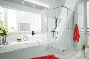 Kolorowa łazienka: ożywisz ją za pomocą baterii