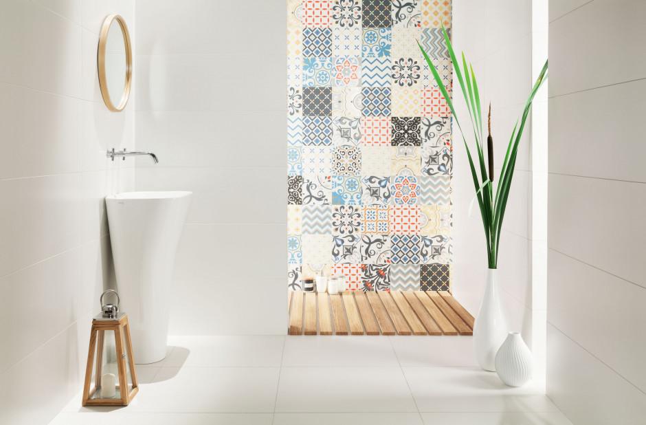 Patchworkowe płytki ceramiczne: modne kolekcje do łazienki