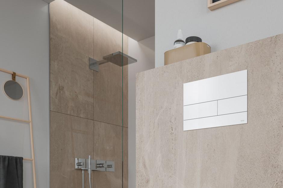 TECEsquare II – przycisk spłukujący do WC w wersji biały matowy