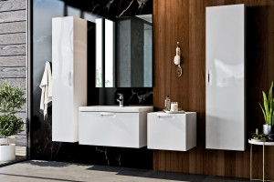 FLOU - kolekcja mebli łazienkowych dla wielbicieli minimalizmu / Deftrans