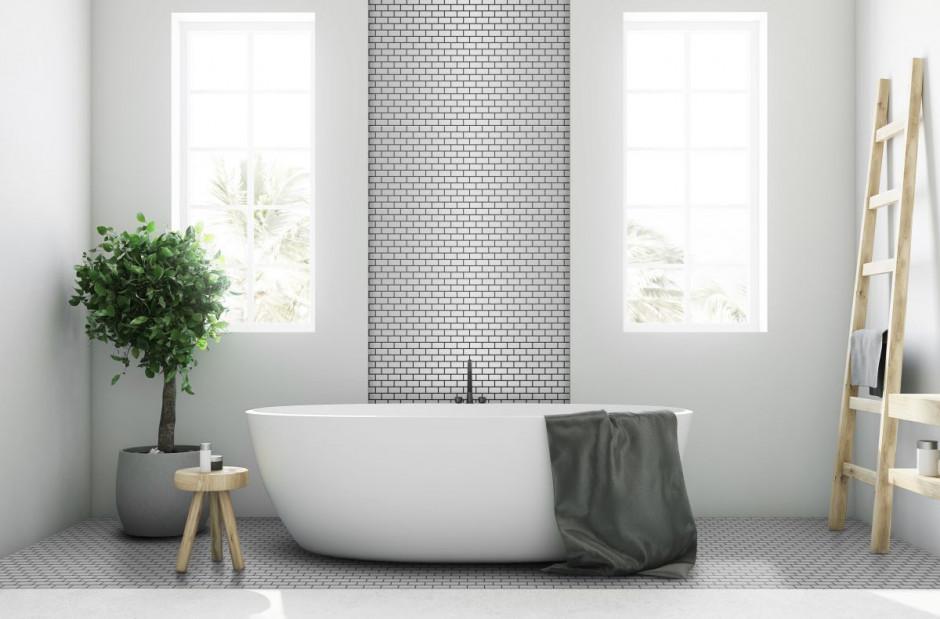 Co na ścianę w łazience? Postaw na mini cegiełkę