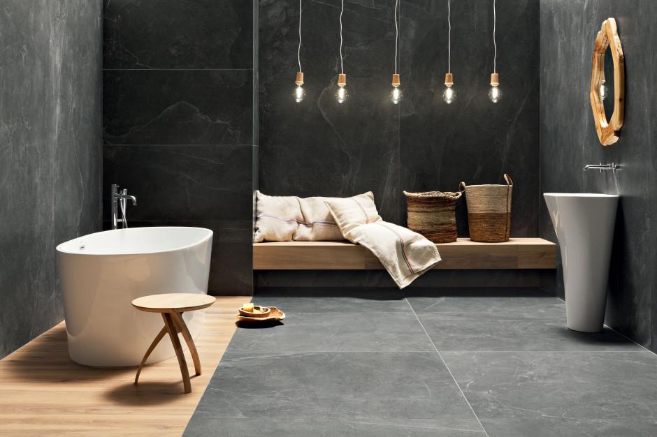 Płytki jak kamień: 10 kolekcji do łazienek