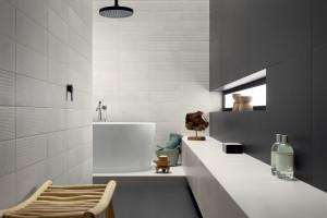 Łazienka w stylu loft: nowa kolekcja płytek w industrialnym klimacie