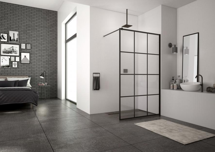 Kabiny prysznicowe: 5 modnych modeli z czarnymi profilami