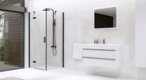 Czerń podkreśli loftowy styl łazienki