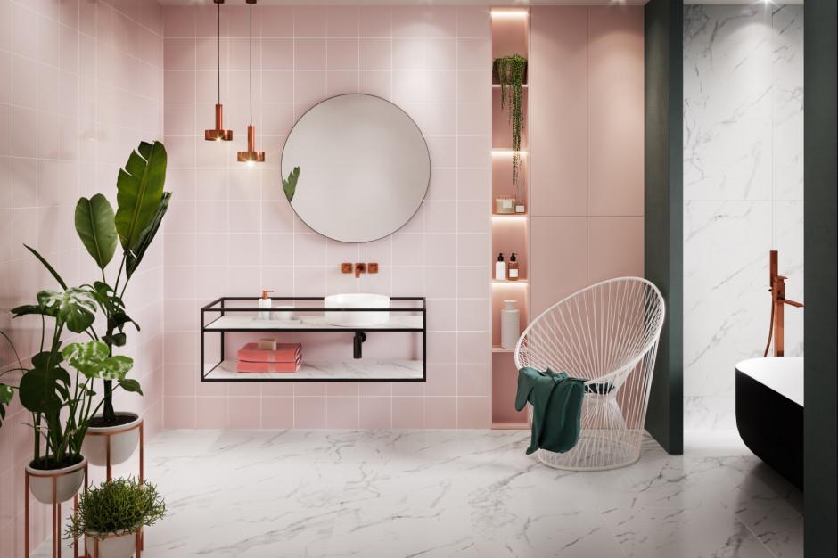 Kolor w łazience: wybierz różowe płytki