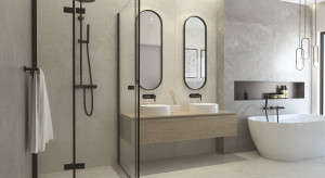 5 pomysłów na czerń w łazience