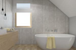 Łazienki w niewielkim domu: zobacz projekty