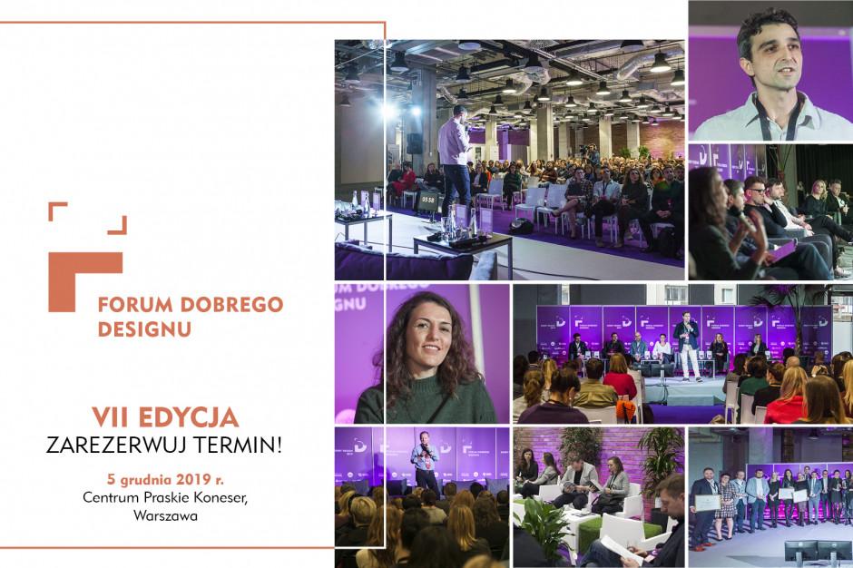 Przed nami 7. edycja Forum Dobrego Designu. Zarezerwuj termin!