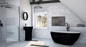 Wanna w łazience: 3 modele w wersji black&white