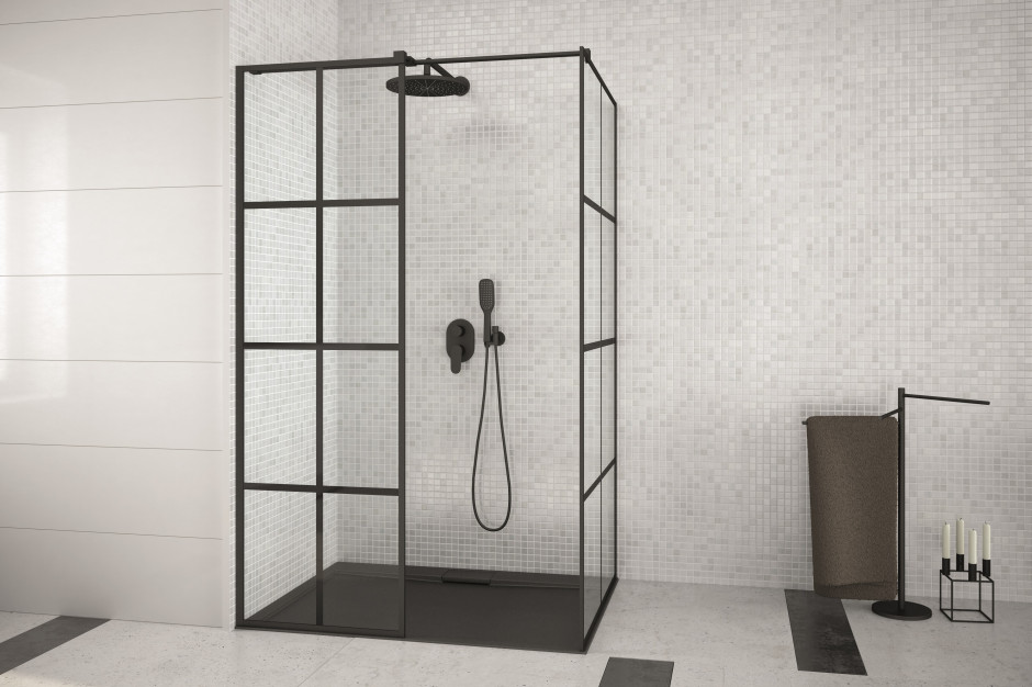 Kabina prysznicowa: 5 modeli w czarnym kolorze