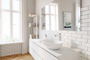 Salon kąpielowy w kamienicy: gotowy pomysł na aranżację