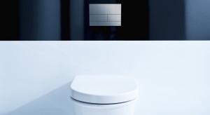 Matowe przyciski spłukujące w łazience