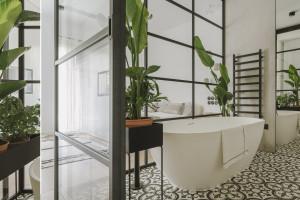 Łazienka przy sypialni: zobacz niezwykłe wnętrze