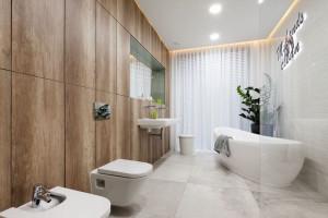 Łazienka ocieplona drewnem: 12 projektów z polskich domów