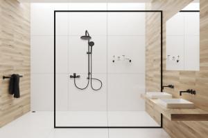 Modna łazienka: postaw na czarną armaturę