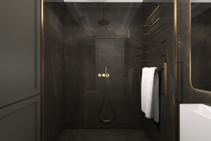 Okiem architekta: projektowanie ciemnej łazienki