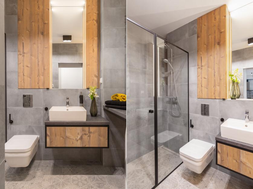 Łazienka w stylu loft: zobacz projekt ze starą cegłą