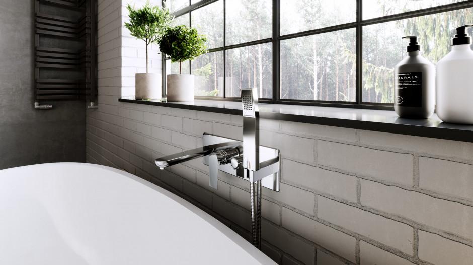 Designerska łazienka w stylu industrialnym: zobacz gotową aranżację