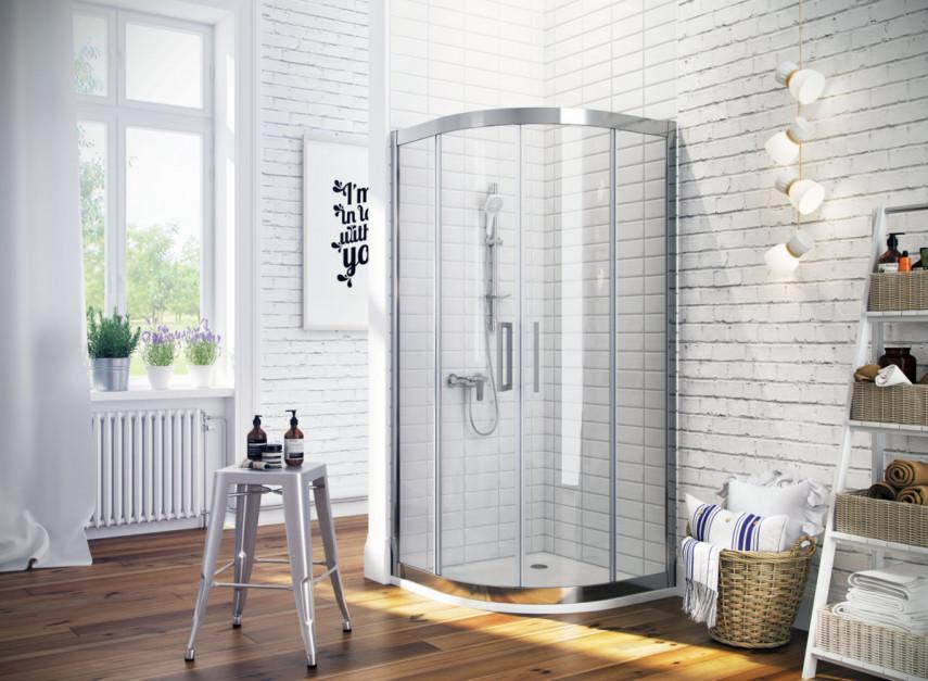 Kabina prysznicowa: 5 półokrągłych modeli