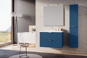 Meble łazienkowe: 7 kolekcji z frontami w różnych kolorach