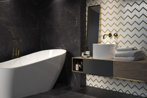 Od biżuteryjnych akcentów po nowoczesne formy, czyli mozaika w łazience
