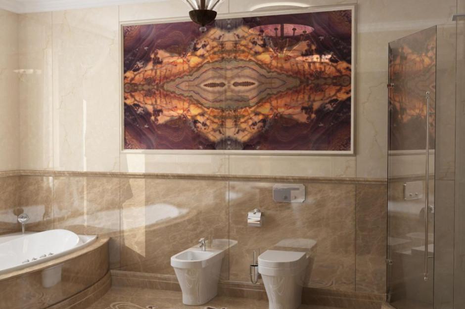 Wytworny marmur w łazience