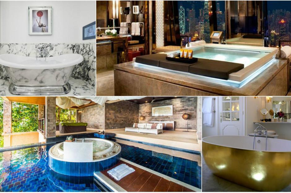 10 szałowych łazienek hotelowych z całego świata
