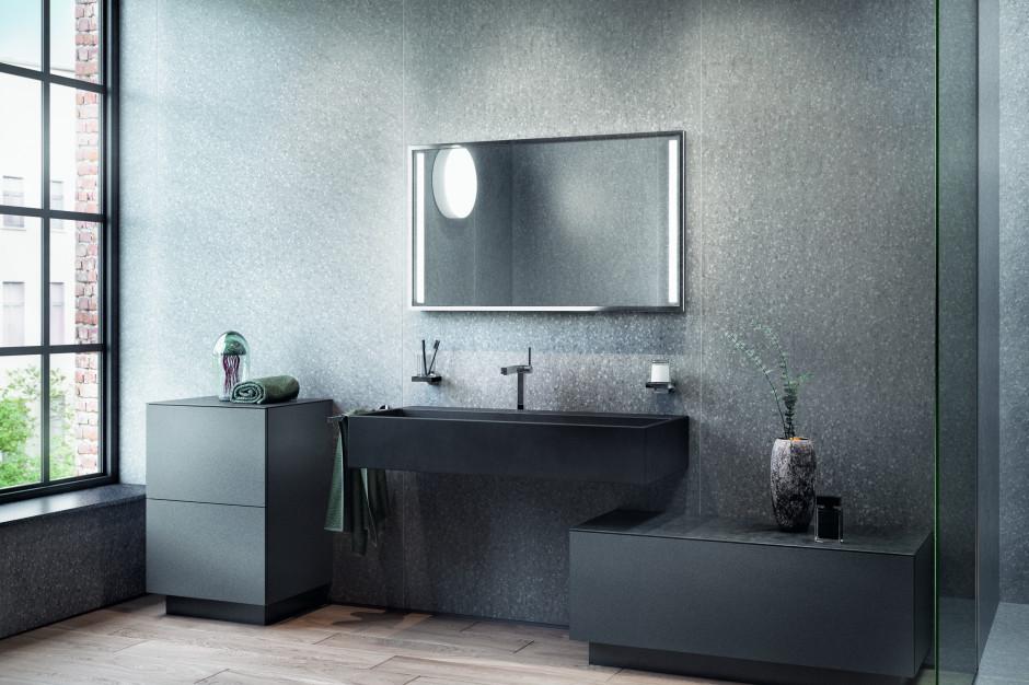 Meble łazienkowe: 5 modnych kolekcji z ciemnymi frontami