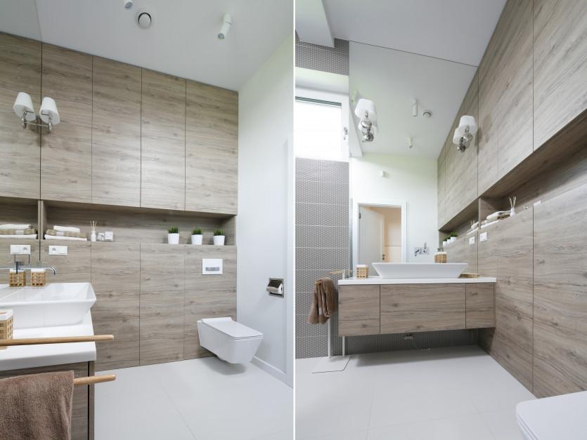 Łazienka w kolorach drewna: piękne projekty z polskich domów
