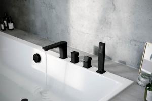 Baterie łazienkowe: postaw na modną czerń