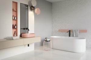 Szare płytki ceramiczne: 15 kolekcji do łazienek
